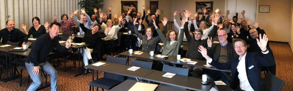 God stemning under Regnskap Norges frokostmøte om endringsledelse og forretningsutvikling i Kristiansand.